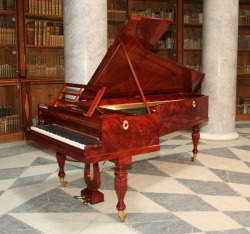 Replica of 1830 Pleyel piano, made by Paul McNulty for the Warsaw Chamber Opera